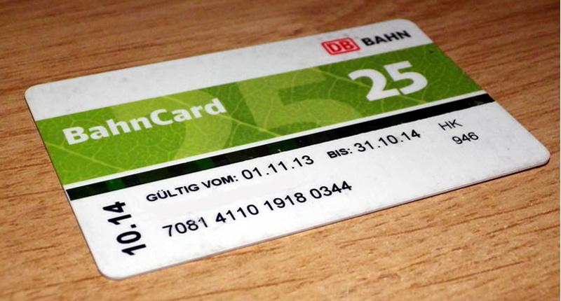 Bahncard 25 hilft beim günstigen Reisen.
