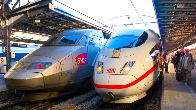 TGV und ICE am Pariser Bahnhof Gare de l'Est