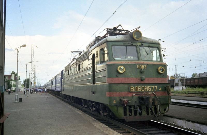 Elektrische Lokomotive der transsibirischen Eisenbahn