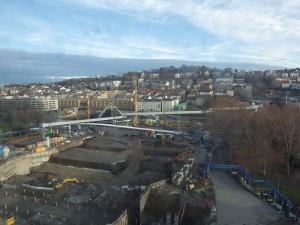 Bauarbeiten Nordseite Hauptbahnhof