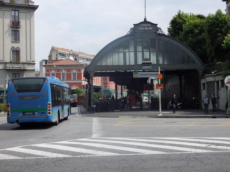 Bahnhof Como Nord mit drei Gleisen - 1885 eröffnet