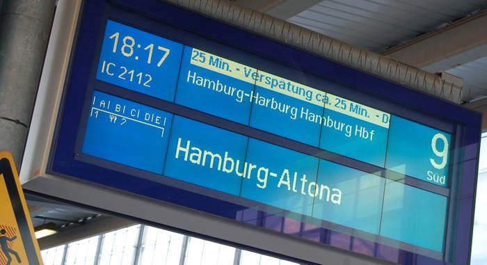 Deutsche Bahn: zu viele Verspätungen - hier am Bremer Haupbahnhof