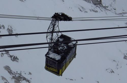 Eibseebahn auf dem Weg zur Zugspitze