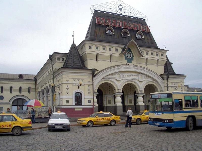 Bahnhof Wladiwostok - Endstation der Transsibirischen Eisenbahn - erbaut 1891 - 1893