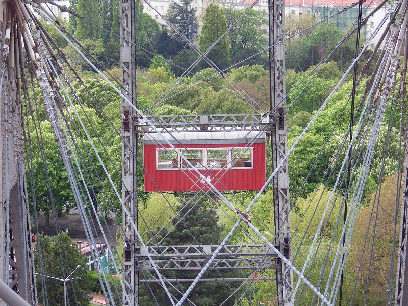 Riesenrad in Wien - Top-Sehenswürdigkeit - toller Blick über die österreichische Hauptstadt