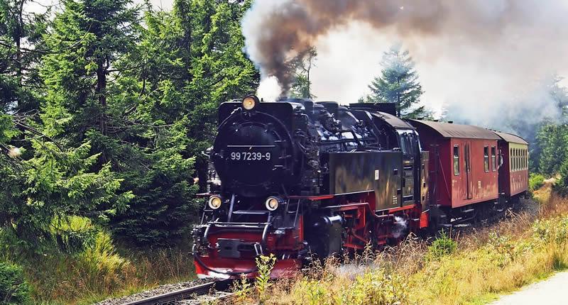 Eisenbahn-Geschichte: Rad, Schiene, Dampfmaschine