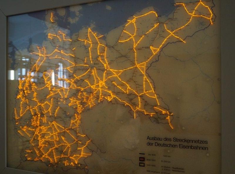 Die Deutsche Reichsbahn betrieb schon Ende des 19. Jahrhunderts ein ausgedehntes Streckennetz.