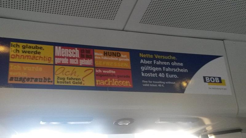 Schwarzfahren bei der Bayerischen Oberlandbahn - Fahren ohne Fahrschein bei der BOB - Ausreden für Schwarzfahrer