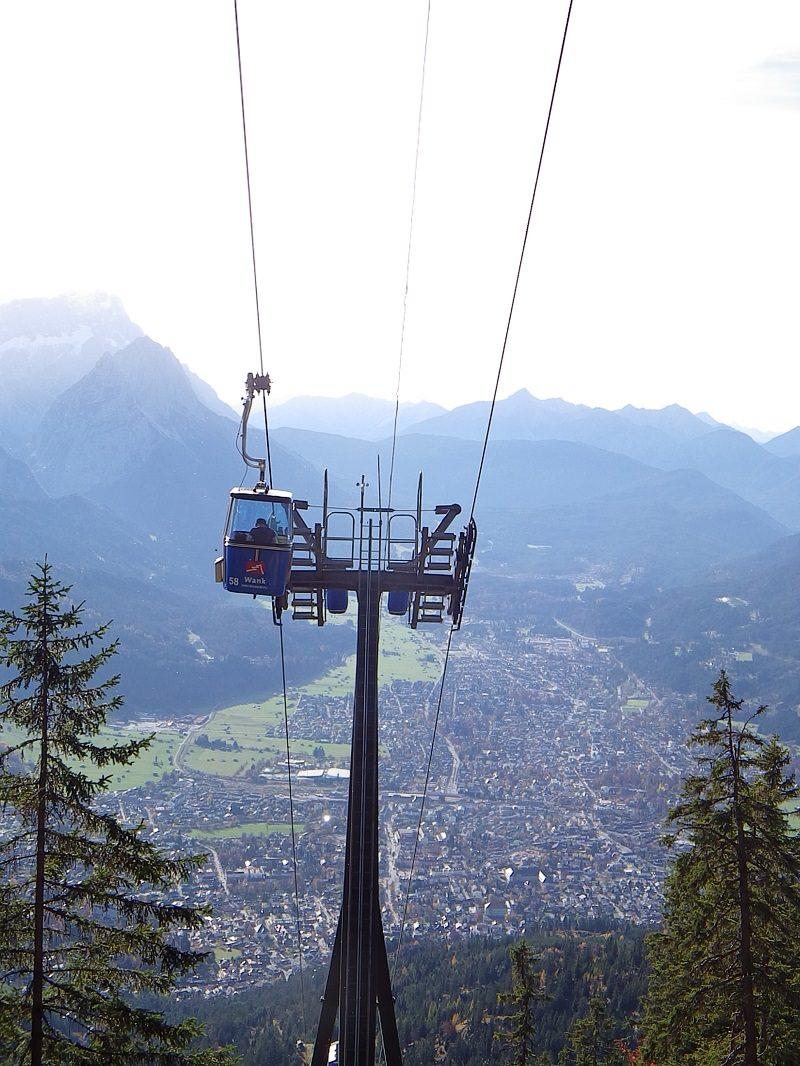 Zugspitze, Kramer und Hauptbahnhof Garmisch-Partenkirchen