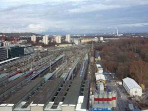 Stadtquartier Rosensteinviertel auf dem derzeitigen Gleisvorfeld. Fläche ca. 170 ha (60 ha Neubaufläche)