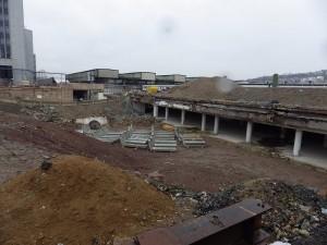 Umbau im Bereich Arnulf-Klett-Passage,Neubau Stadtbahntunnel, Abriss bestehender Gebäude