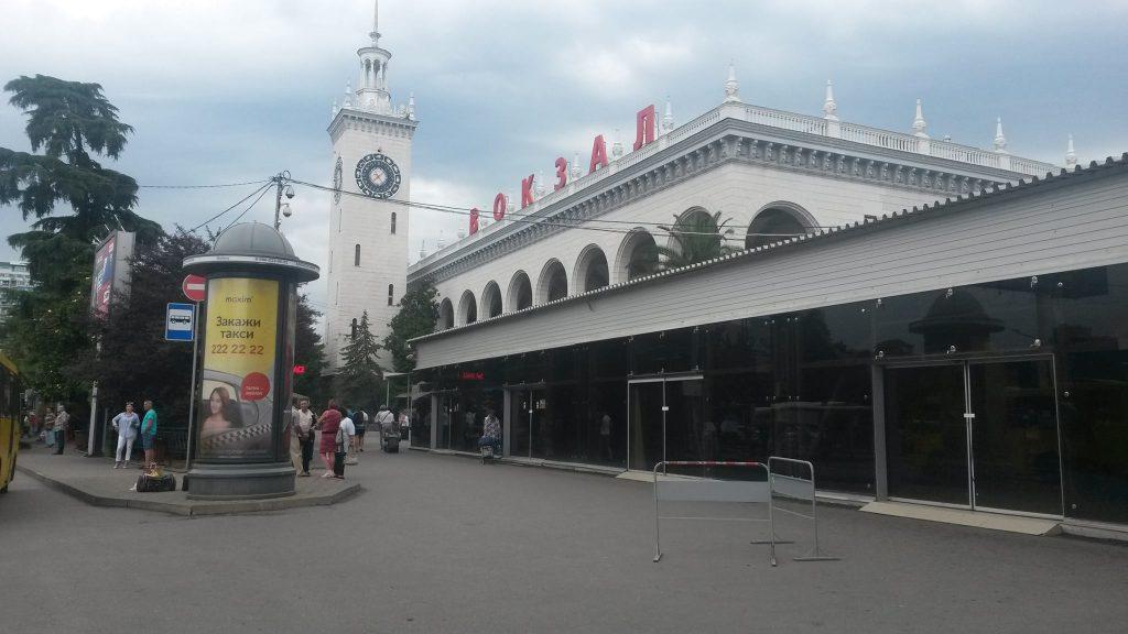Bahnhof von Sotschi im Stadtzentrum