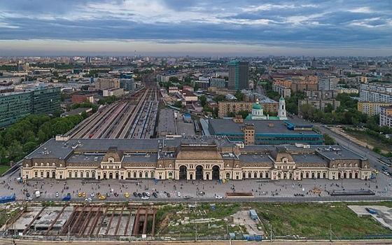 Pawelezer Bahnhof: hier kommen die Aeroexpress-Züge vom Flughafen Moskau-Domodedowo an.